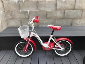 One Direction Girl's Cruiser Bike - Red/White, 16 Inch