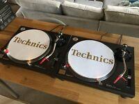 Technics SL 1210 MK2 Turntables Pair + Ortofon Concordes + Deck Savers