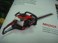MOUNTFIELD PETROL HEDGE CUTTER MODEL MH2424 TWIN CUTTING BLADES TWIST GRIP HANDLES FOR LEFT & RIGHT