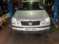 VOLKSWAGEN POLO 1.4P 2003 COMPLETE BREAKING FOR PARTS