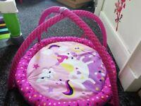 Playmat, bouncy chair & walker