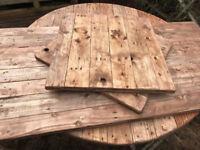 Reclaimed Wood Table Tops x 10. Cafes, Bars, Restaurants