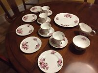 Antique vintage English bone china - Queen Anne tea set 16 pieces