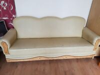 BARGAIN BUY! £15 each! or £30 for all 3! 3x3-seater leather sofas with in-built storage