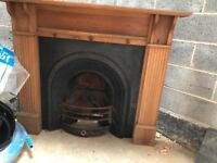 Beautiful Cast Iron Fire Place With Wooden Surround