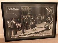 FRAMED American Girl in Italy picture. 1951 black and white photo print by Ruth Orkin 104cmx75cm