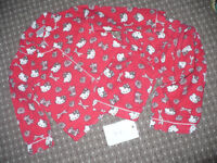 Hello Kitty cotton pyjamas with opened front for girl 5-6 years. Very good condition.