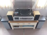 HIFI MUSIC SYSTEM#RECORD DECK/RECORD PLAYER#CASSETTE#TUNER AMP#4 SPEAKERS
