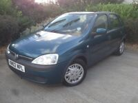 2002 AUTO 1.4 VAUXHALL CORSA AUTOMATIC, 5 DOORS, BLUE, MOT 28 JUNE 2017, NOT FIESTA, CLIO OR MICRA