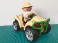 Safari Explorer Pull Back 'n' Go Quad Bike - £5