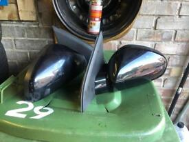Vauxhall Vectra set of wing mirrors in black