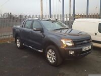 2014-64 ford ranger wildtrack200 3.2 tdci auto double cab pickup very low miles plus vat