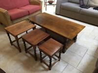 Light Oak Coffee Table + nest of tables