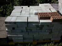 Grey common bricks