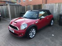 mini cooper s convertible r57 very low miles fully loaded
