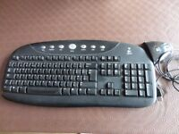 LOGITECH Computer KEYBOARD & RECEIVER,fully working