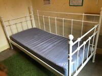 White ikea single day bed