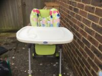 High Chair with detachable tray