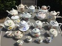 Vintage tea pots and milk jugs- JOB LOT