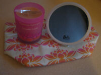 NEW Tranquillity Candle/Washbag/Mirror