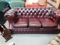 Knightsbridge chesterfeild sofa and chair
