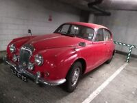 Red Vintage Daimler V8 Car