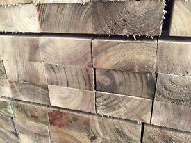 Wood, timber (4x2) 100x47mm @ 3.6m tanalised green