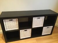IKEA shelving unit - Expedit black//brown - Storage Boxes included - Swedish