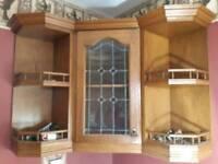 Corner vintage kitchen unit