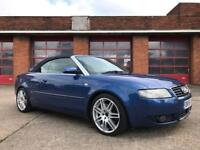 2005 AUDI A4 TDI CABRIOLET CONVERTIBLE 2.5 DIESEL S LINE **NEW TIMING BELT** HALF LEATHER