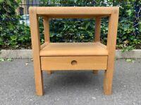 Habitat Radius Oak 1 Drawer Bedside Unit / Table – Great Condition – RRP £150