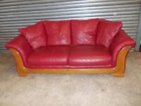 Red Leather 3-1-1 Suite (Sofa)