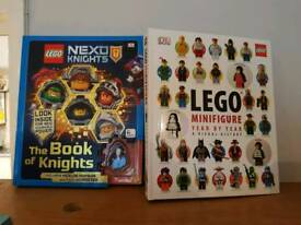 Lego books with minifigures NEW