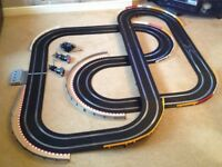 Scalextric Digital Large Layout with Long Flyover & 2 Cars