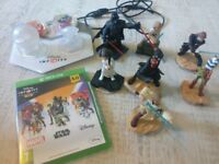 Disney infinity 3.0 for Xbox one Inc 7 star wars infinity figures, 2 playset pieces and power discs.