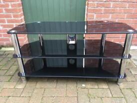 Black glass TV unit £30