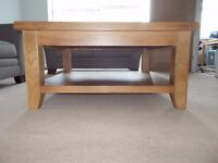 Large Orkney Square Oak Coffee Table