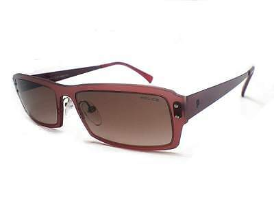 Police Ultraleicht Sonnenbrille Semi Matt Weinrot / Brown Fade S8381 Sby