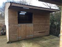 12 x 12 solid wood stable
