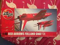 Airfix red arrows folland gnat