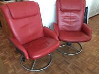 IKEA leather recliner / swivel armchairs