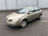 2003 NISSAN PRIMERA 1.8L GREAT CONDITION WITH MOT AND FULL SERVICE HISTORY DRIVES GREAT