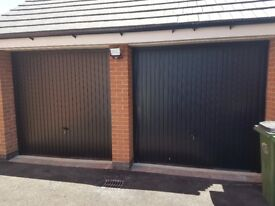 Two Up and over garage doors