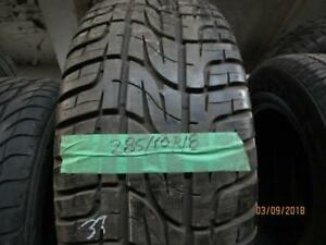 285/60R18 SINGLE ONLY USED PIRELLI A/S TIRE