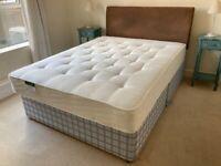 King sized pocket sprung mattress and divan base