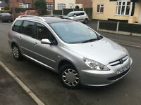 2002*PEUGEOT 307SW ESTATE 2.0 HDI*7 SEATER*82000 MILES*6 MONTHS MOT*PANORAMIC ROOF