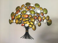 Wall Art - Metal construction, autumn colour tree effect