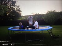 15 foot trampoline with steps