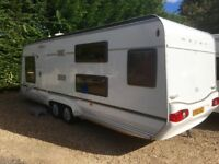 Geist Caravan Aktiv 595 (2009 Model) Motor Movers, Awning, Bunk Beds. Like Hobby/Tabbert/Fendt