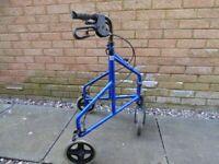 Light weight three wheel walker